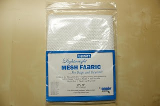 Lightweght Mesh fabric, hvit
